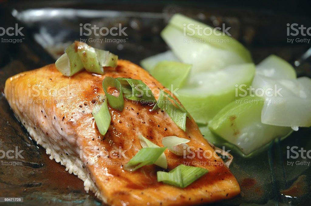 Steelhead Trout Dish royalty-free stock photo