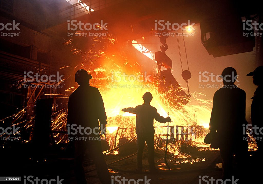 steel-making stock photo