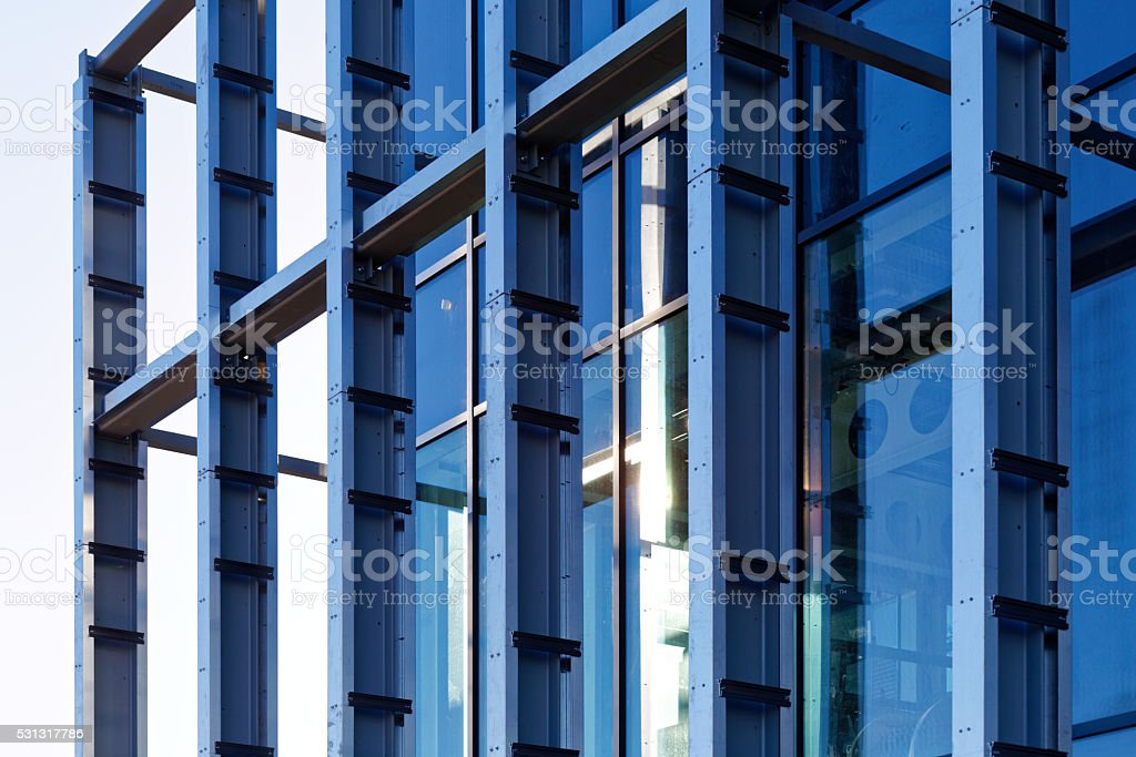 steelwork frame stock photo