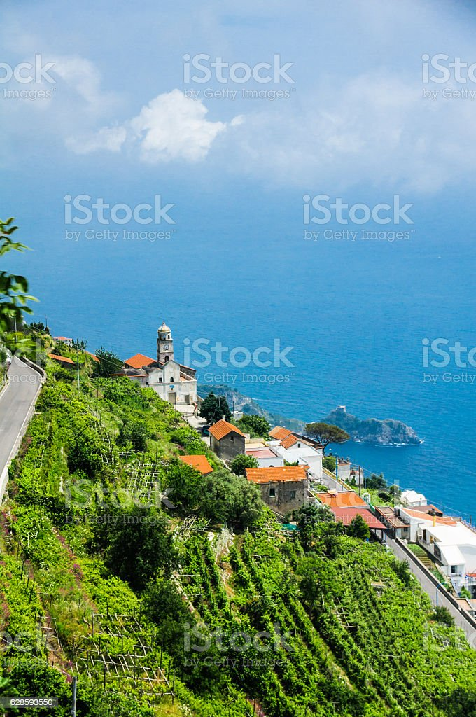 Steep Amalfi Coast stock photo