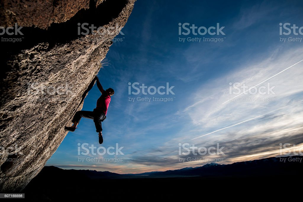 steep climb stock photo
