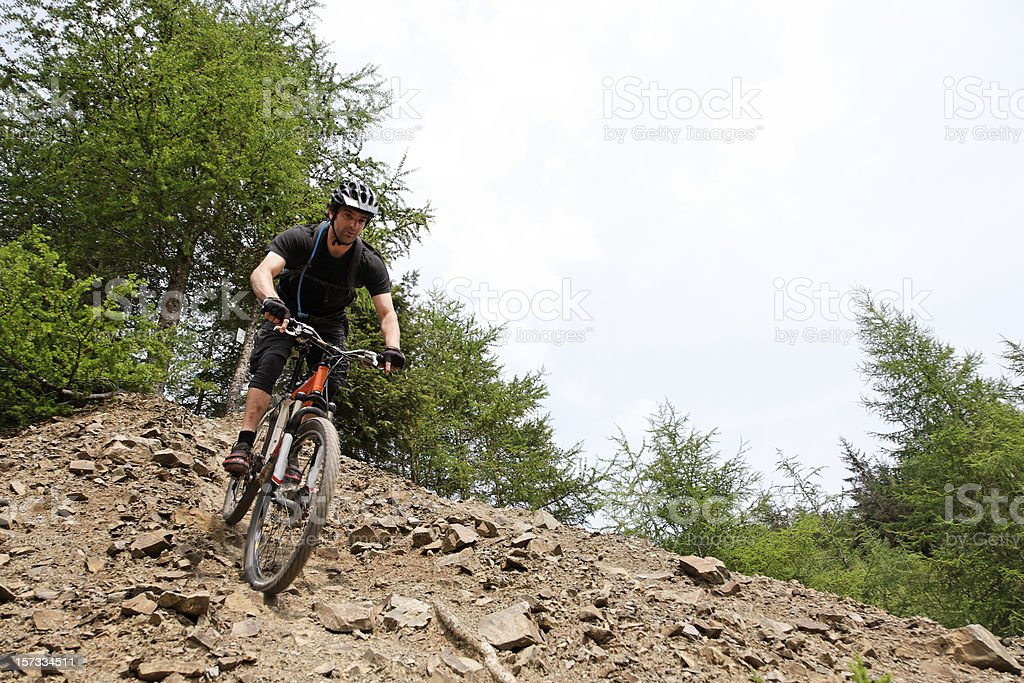 Steep descent royalty-free stock photo