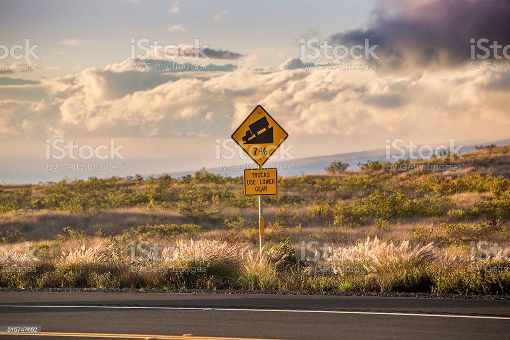 Steep Grade Sign stock photo
