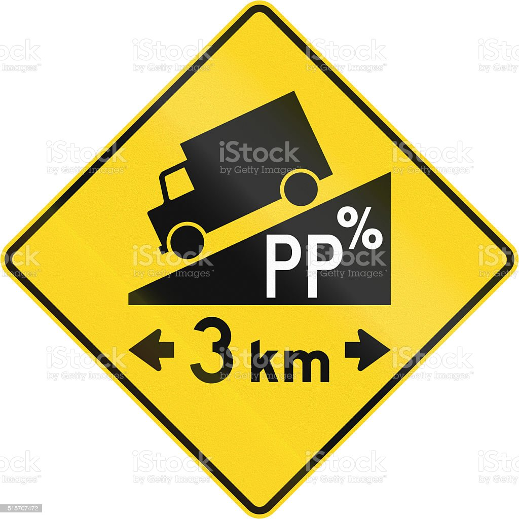 Steep Grade With Length in Canada stock photo