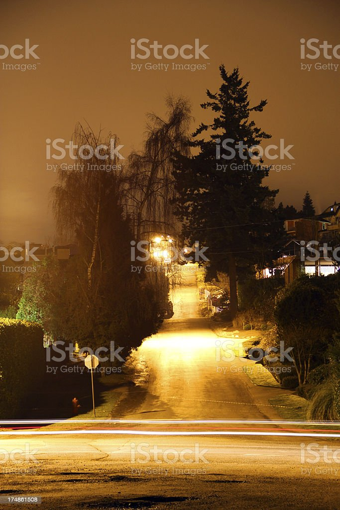 Steep Hill and Streaks royalty-free stock photo
