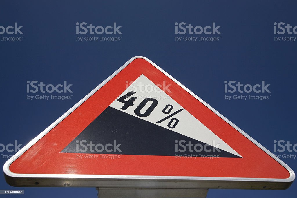 Steep hill sign royalty-free stock photo