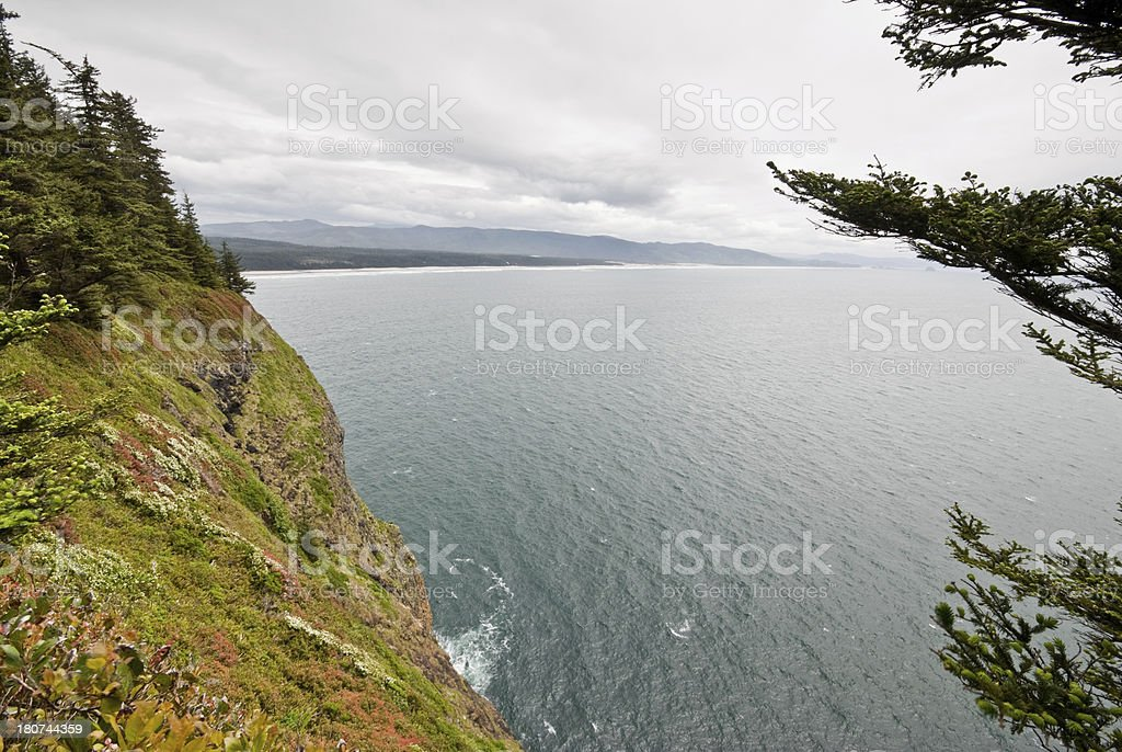 Steep Hillside at Cape Lookout royalty-free stock photo