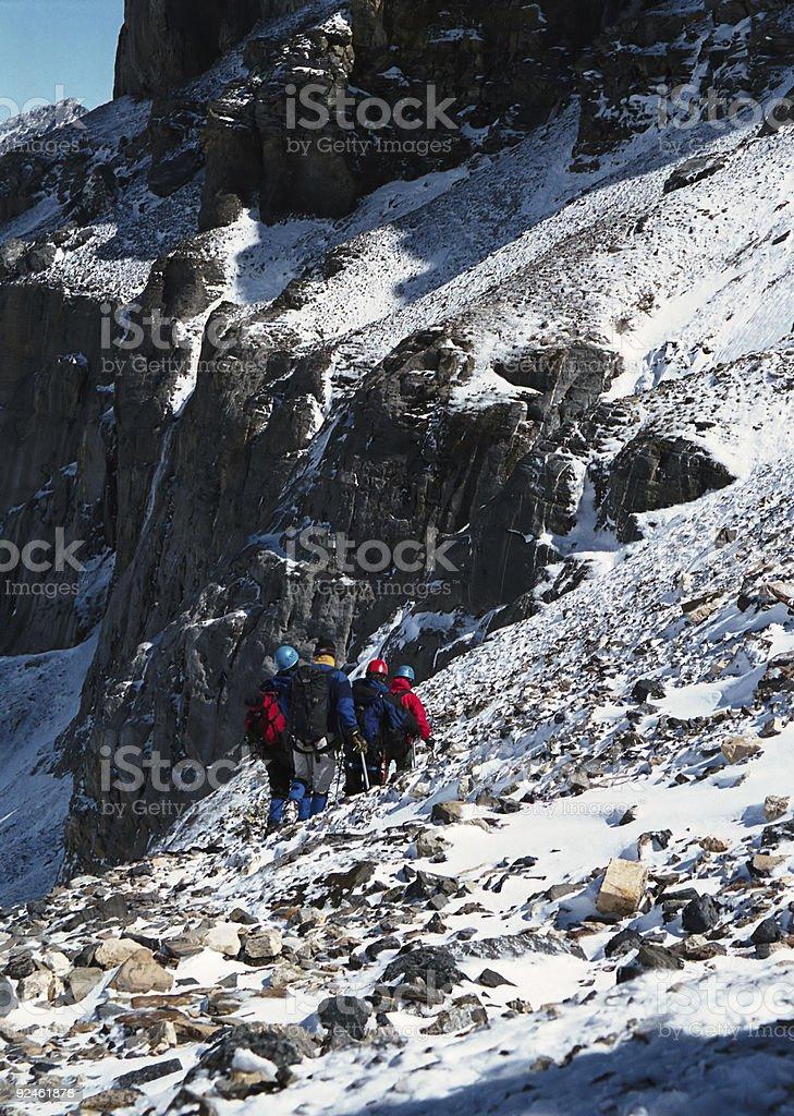 Steep Mountain Descent royalty-free stock photo