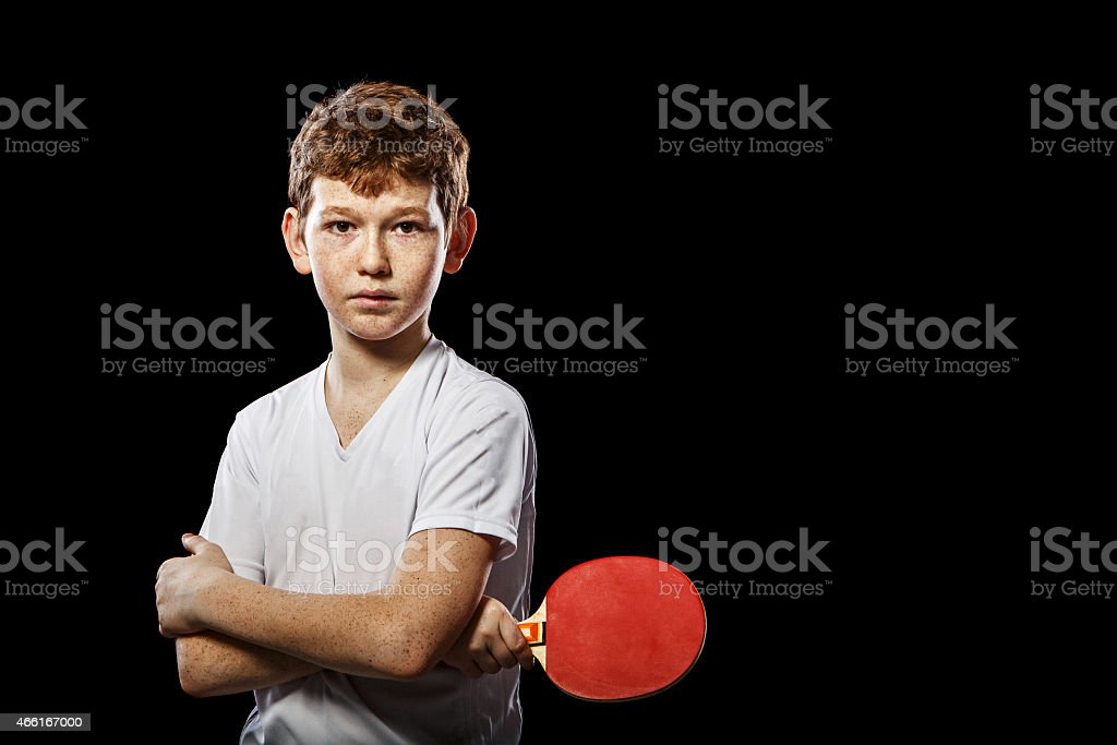 Steep player ping pong stock photo