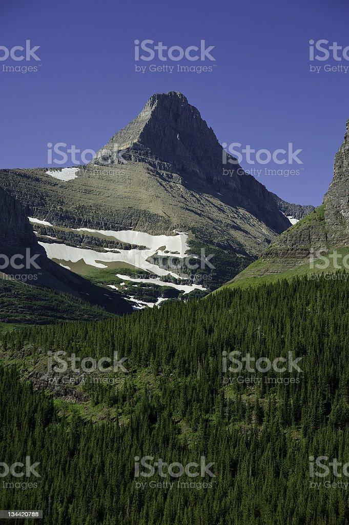 Steep Scenic Mountain Valley Peak Glacier National Park Montana royalty-free stock photo