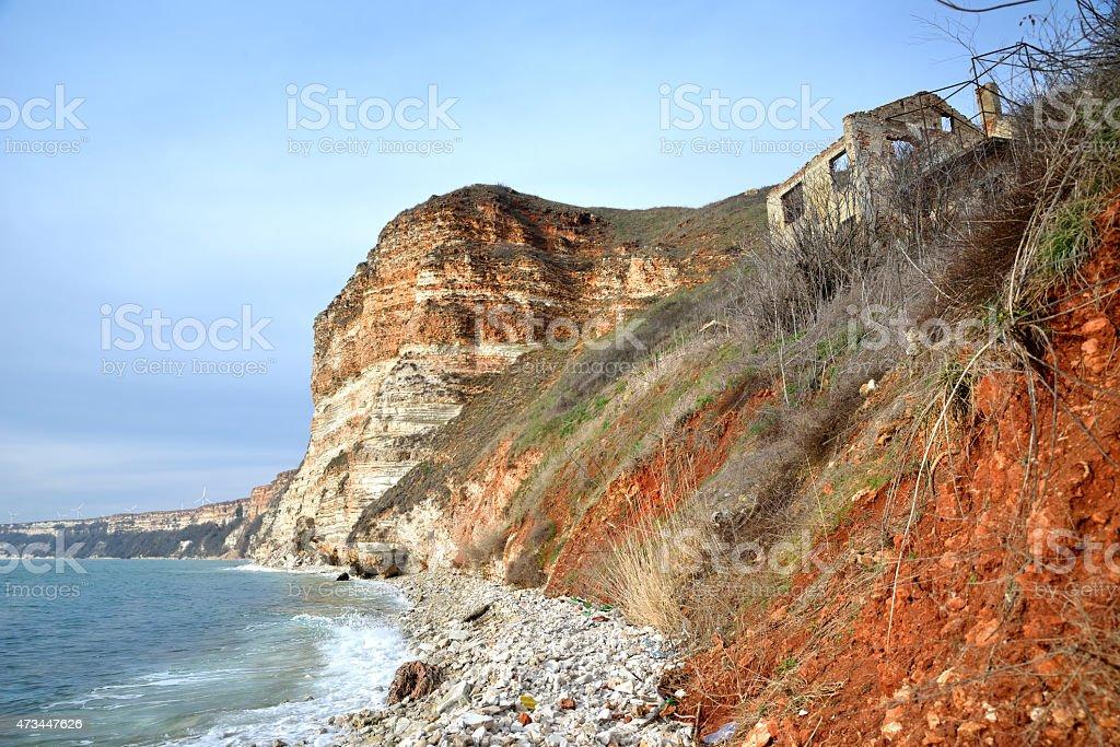 Steep Sea Coast stock photo