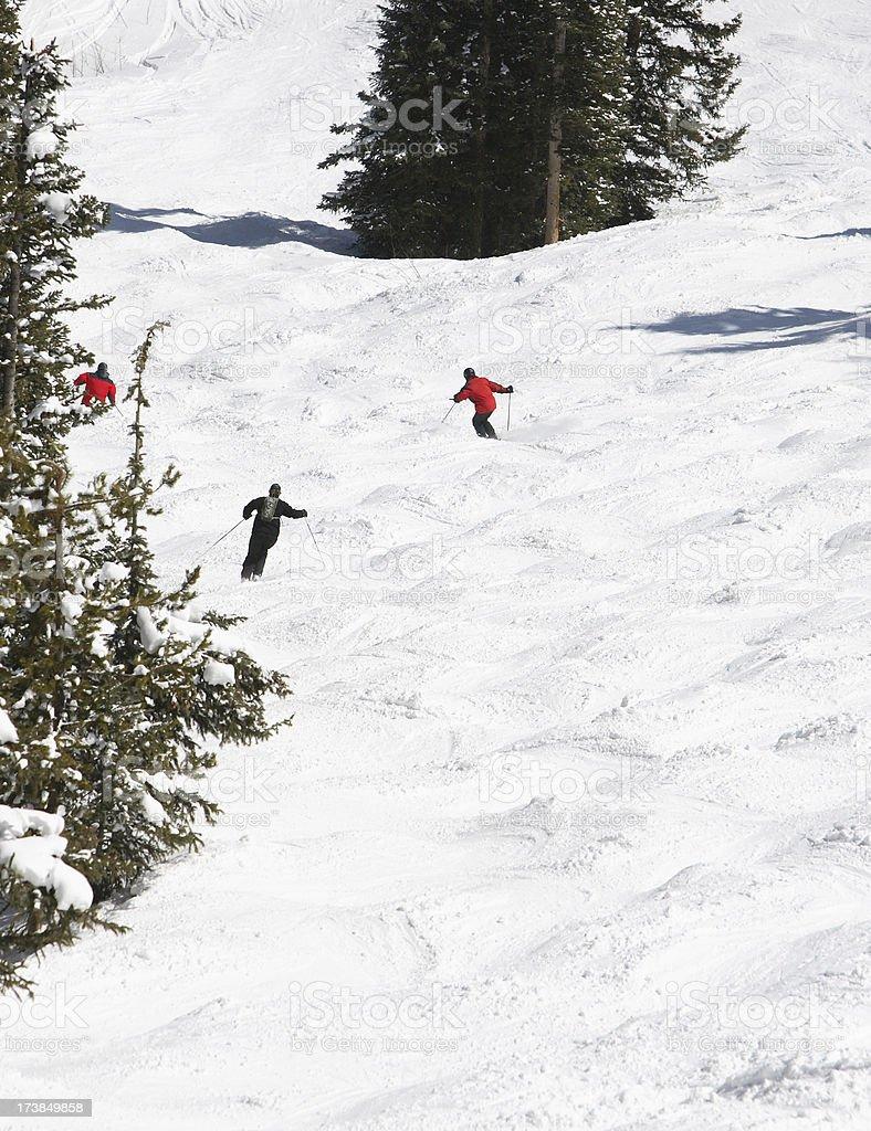 steep skiing stock photo