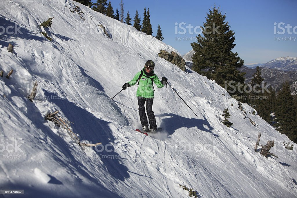 steep skiing royalty-free stock photo