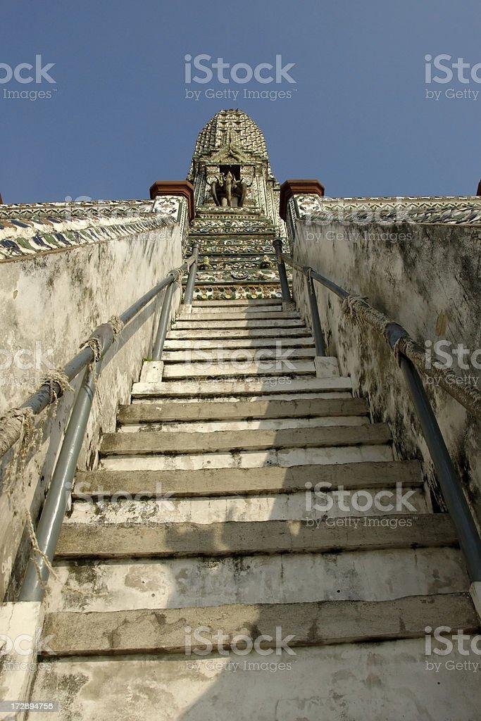Steep steps at Wat Arun royalty-free stock photo