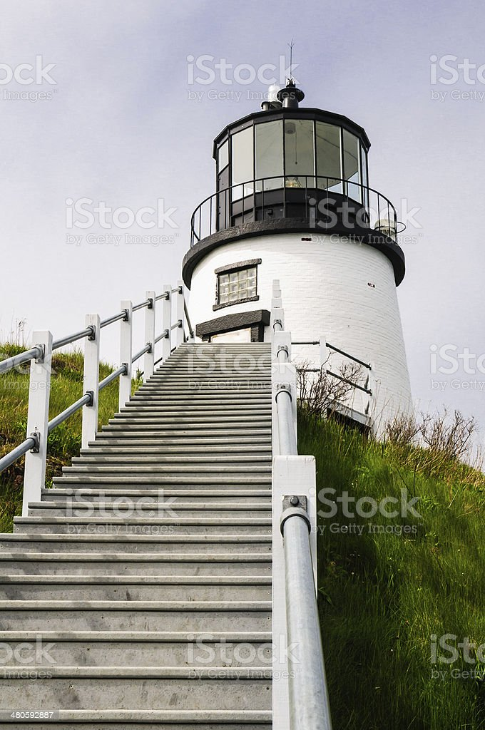 Steep Steps to the Lighthouse stock photo