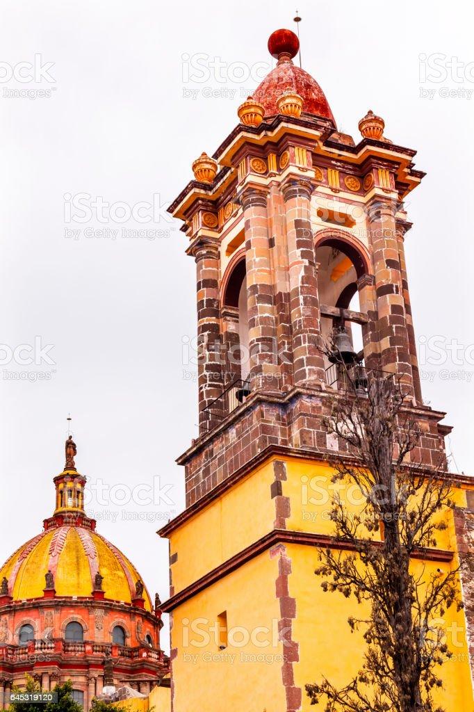 Steeple Convent Immaculate Conception Nuns San Miguel de Allende Mexico stock photo