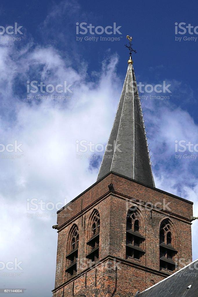 steeple of Amersfoort stock photo