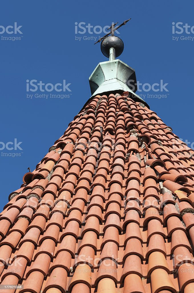 Steeple of church royalty-free stock photo