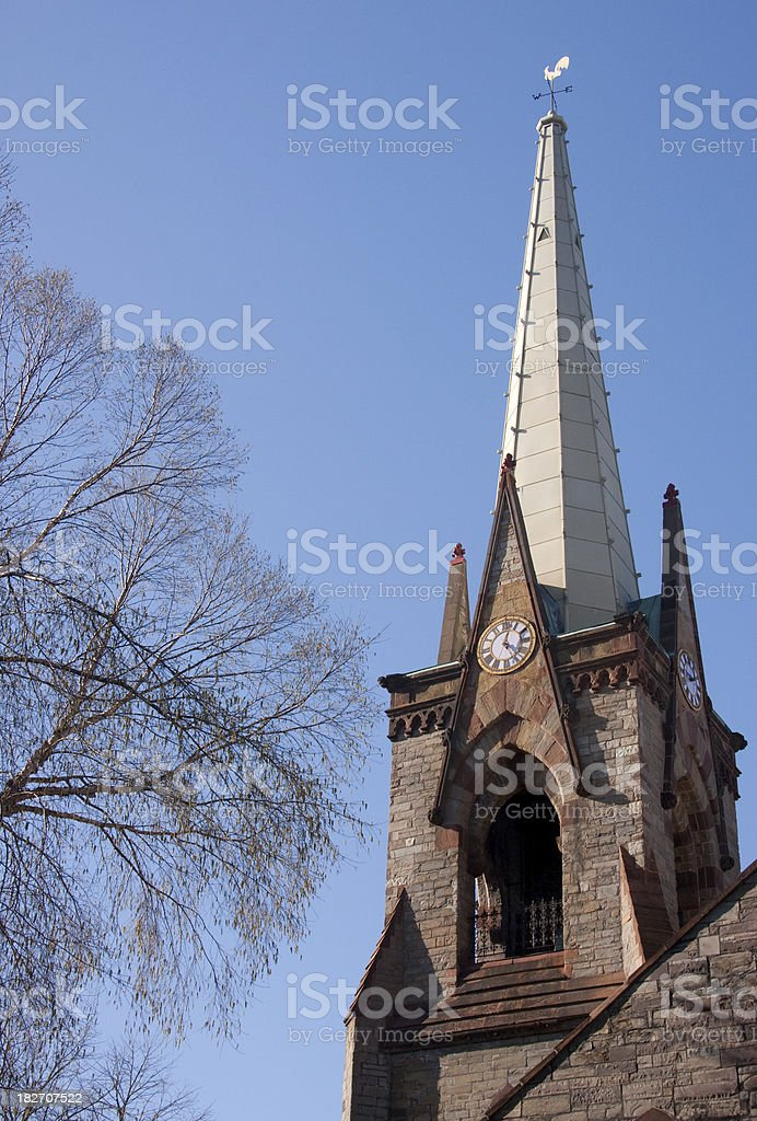 Steeple Sky Tree royalty-free stock photo