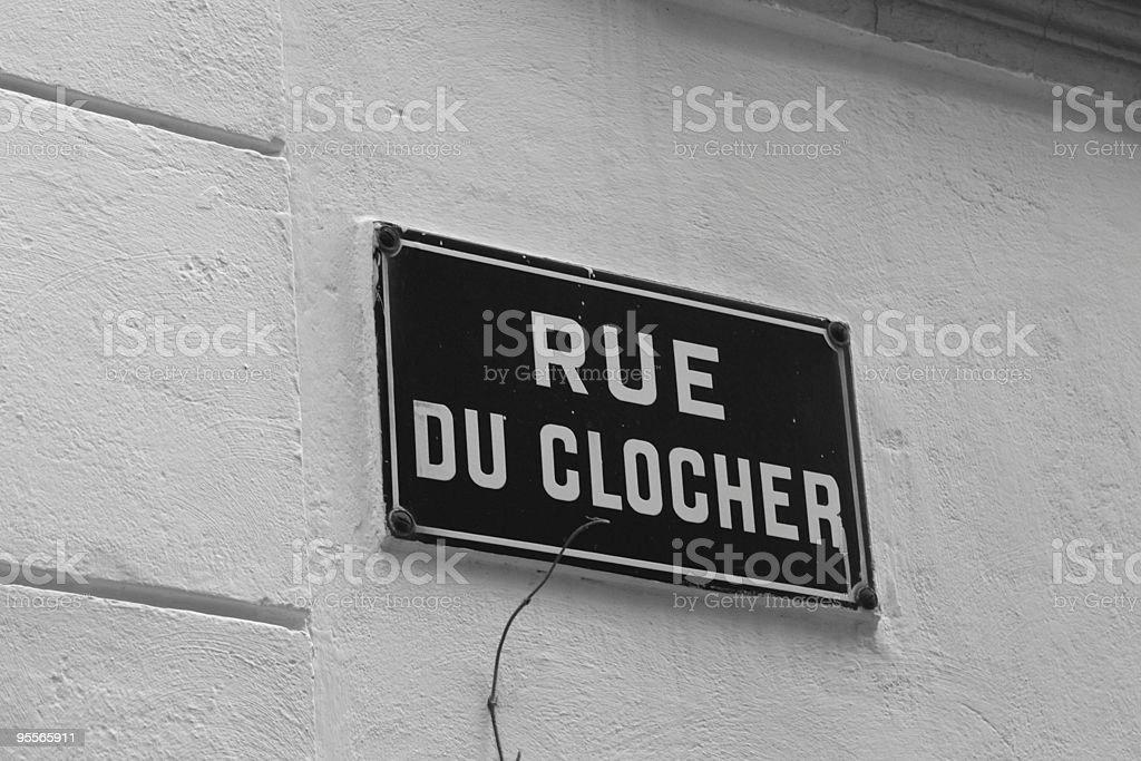 Steeple street in Saint-Tropez, France royalty-free stock photo