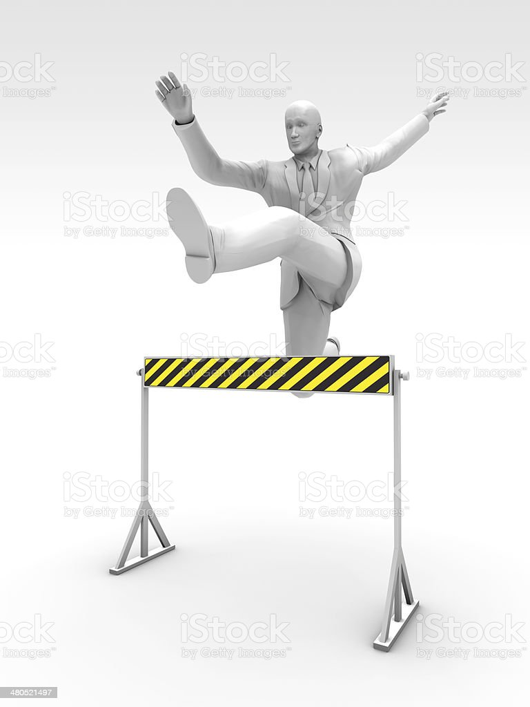 Steeplechase and Businessman stock photo