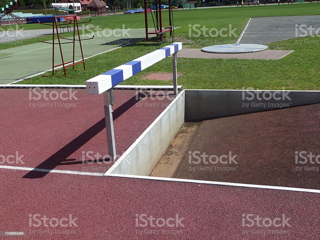 steeplechase barrier stock photo