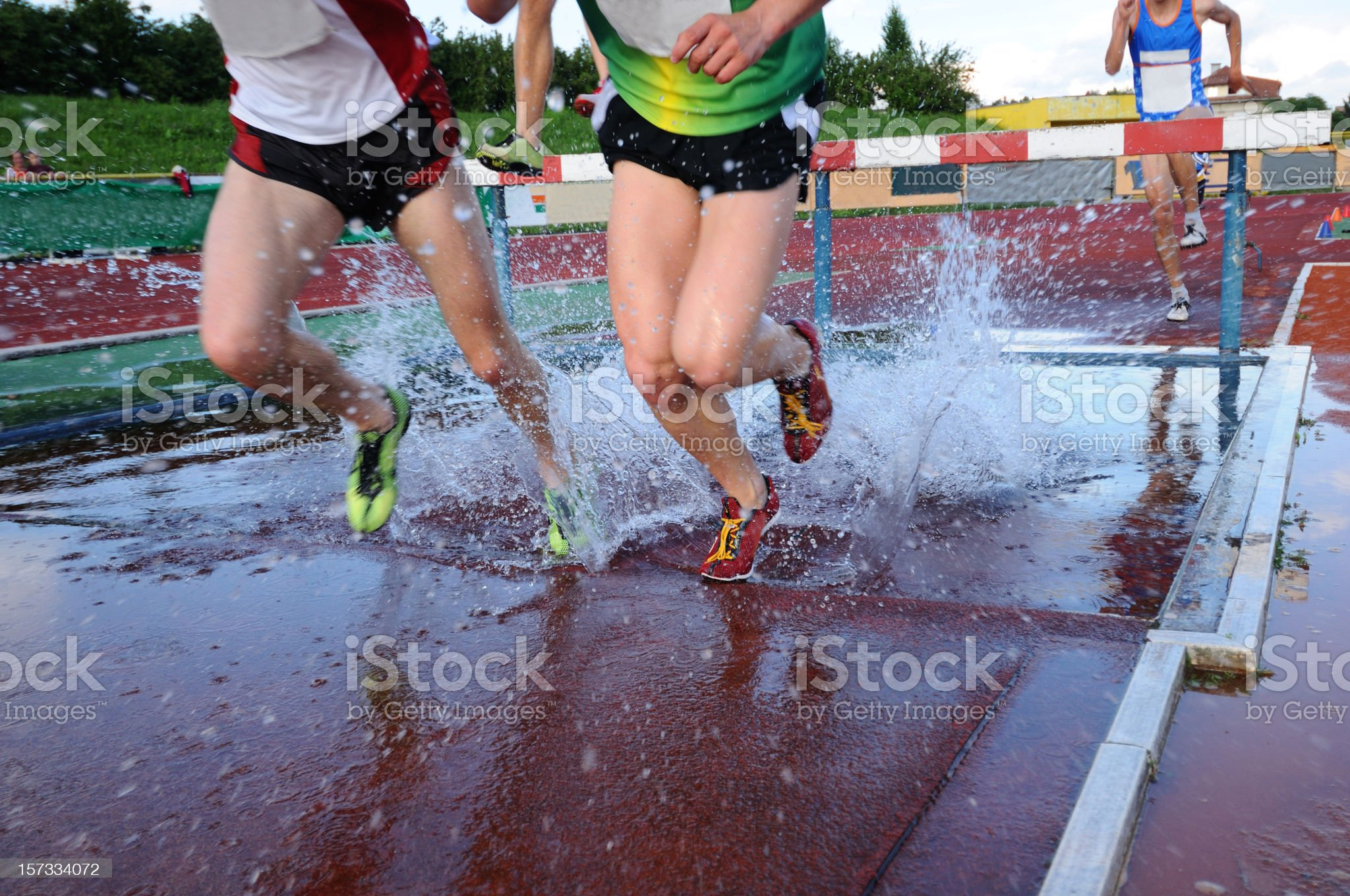 Steeplechase race royalty-free stock photo