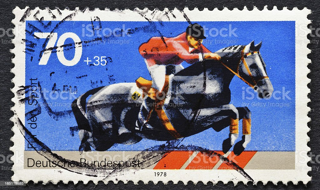 Steeplechase Stamp royalty-free stock photo