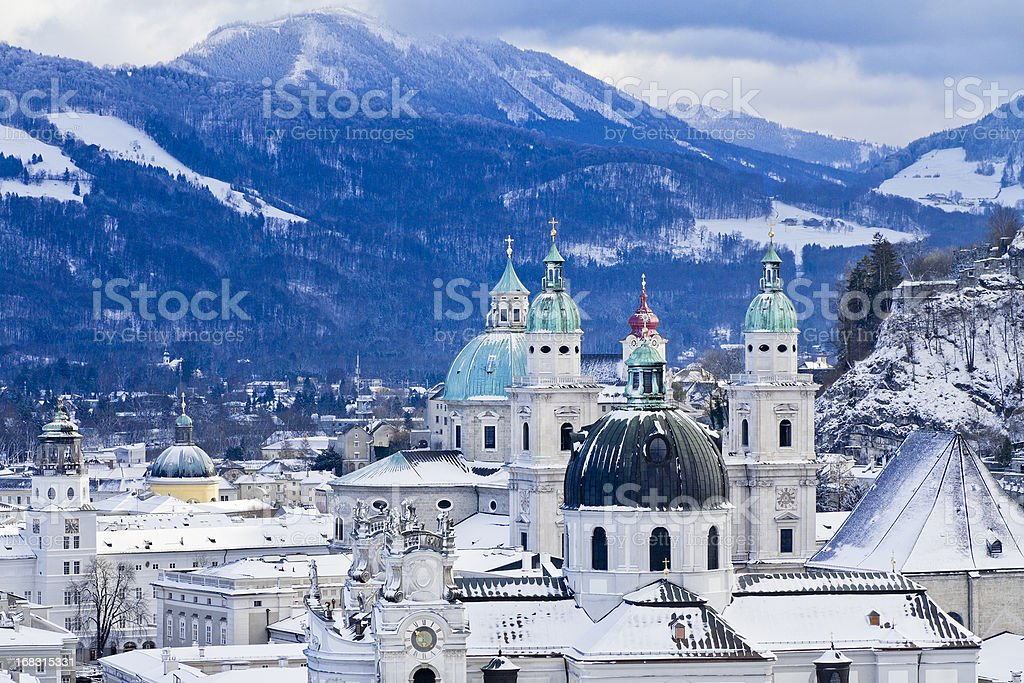 Steeples and Domes of Salzburg stock photo