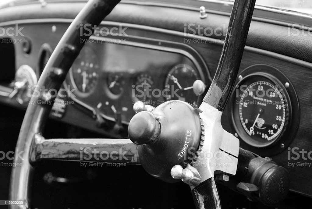 Steering Wheel and Dashboard royalty-free stock photo