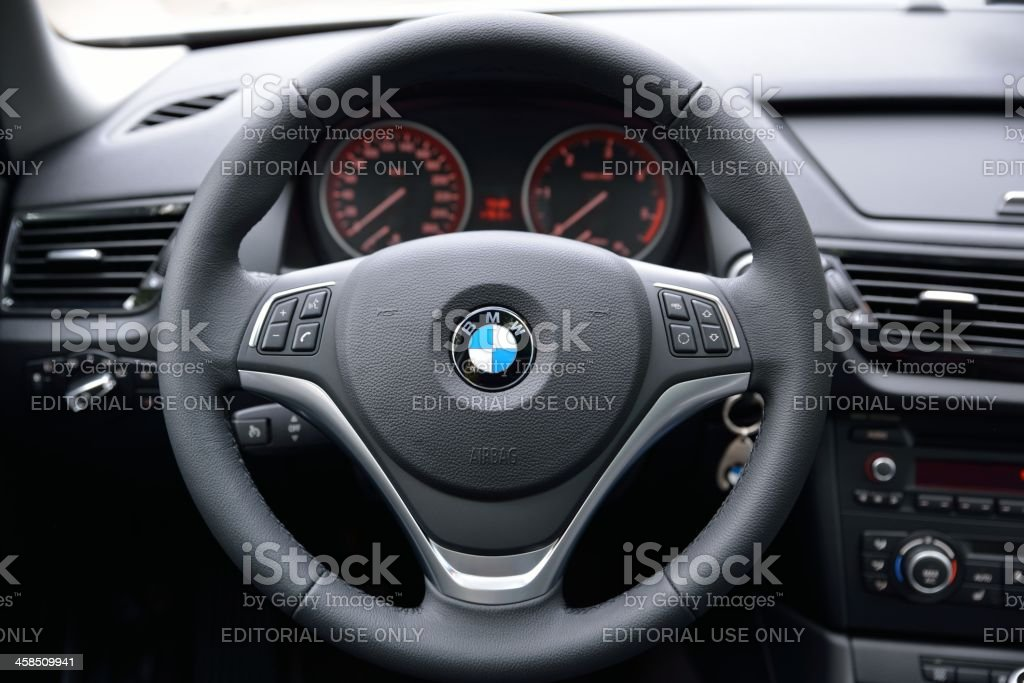 BMW Steering Wheel and Dashboard royalty-free stock photo