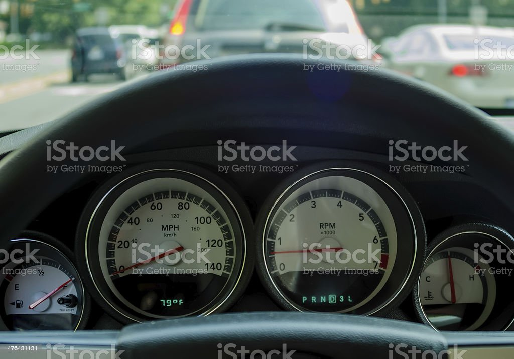 steering wheel dashboard royalty-free stock photo