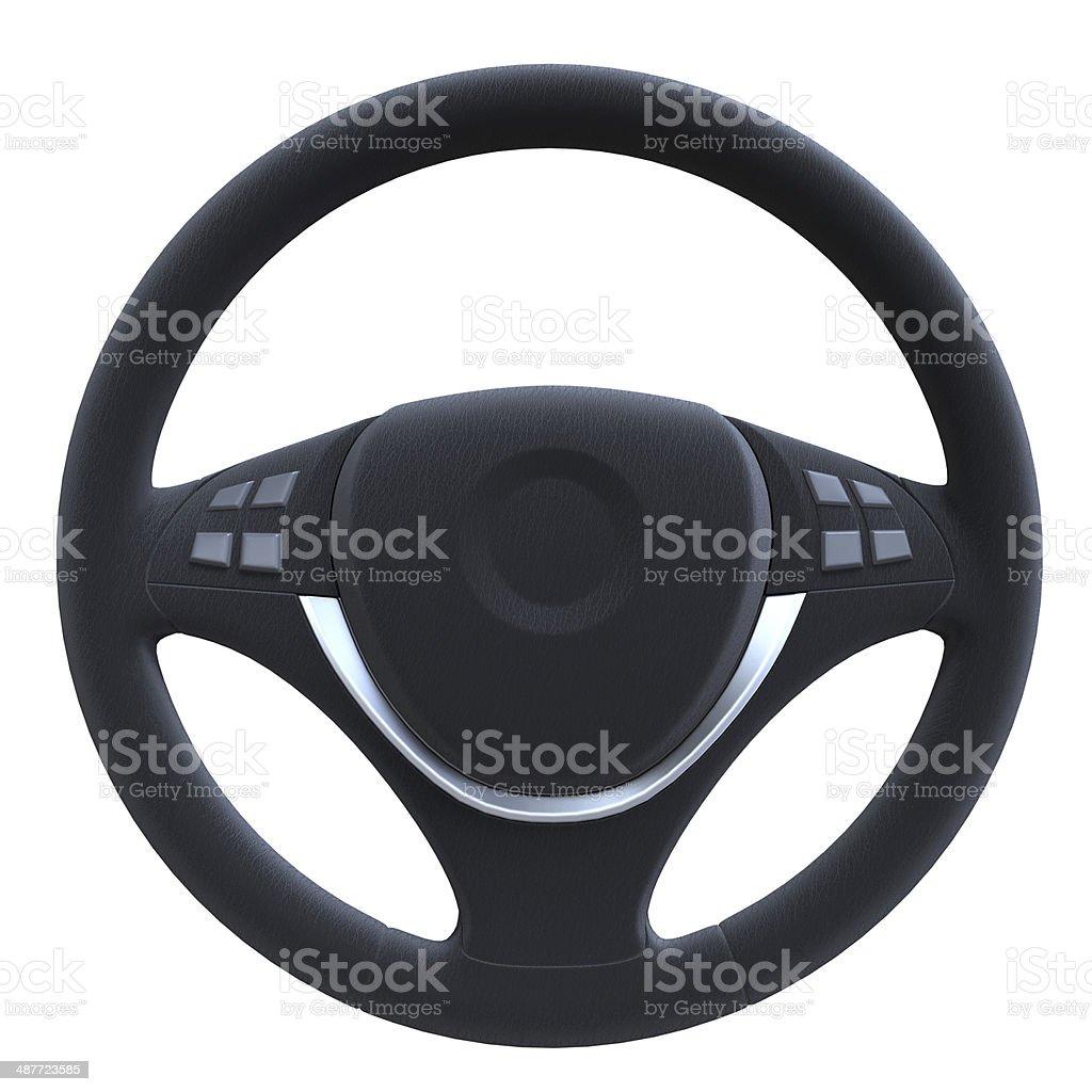 Steering Wheel Isolated stock photo