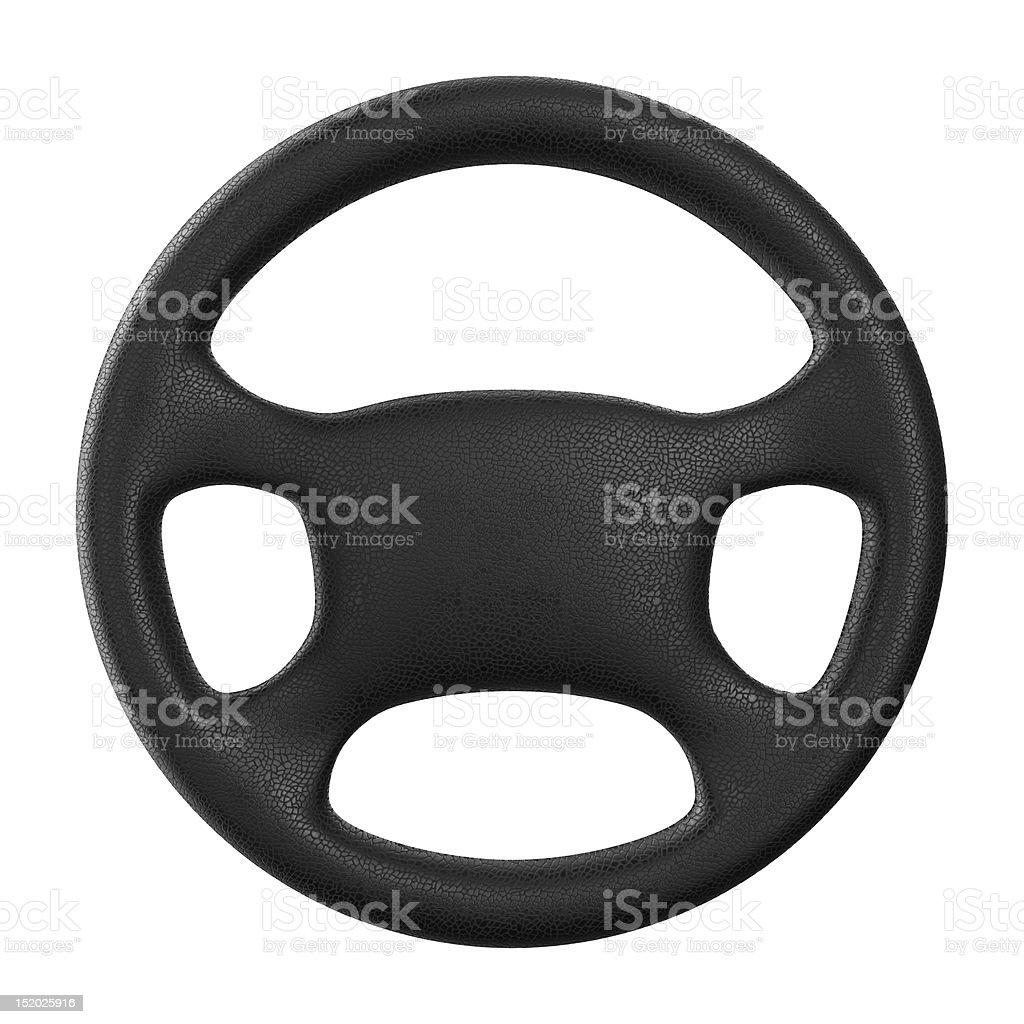 Steering wheel on white background. Isolated 3D image stock photo