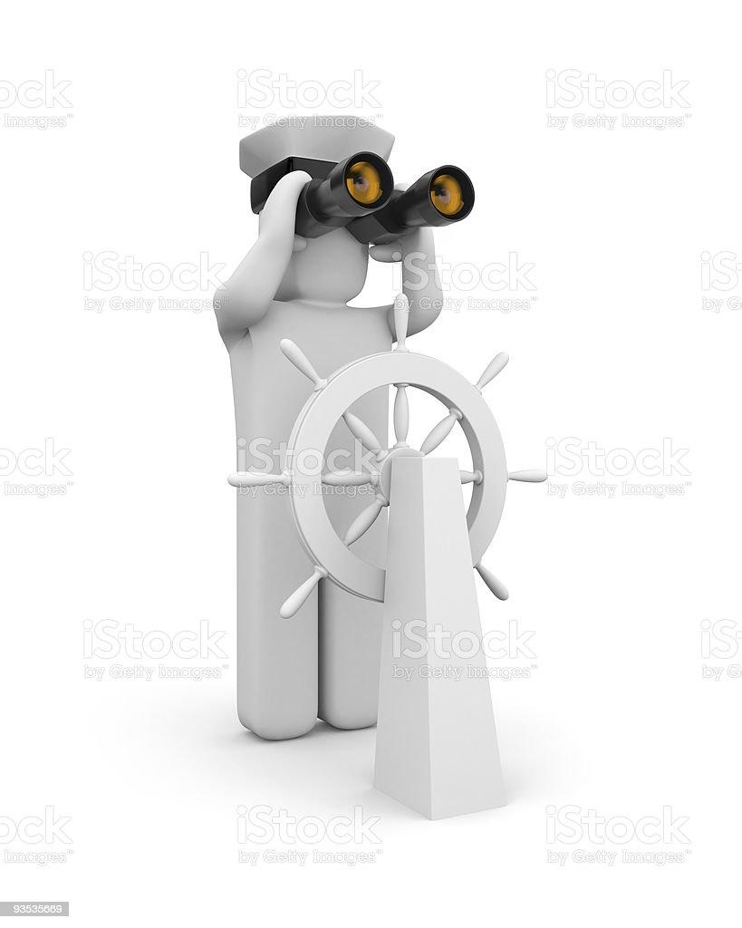 Steersman royalty-free stock photo