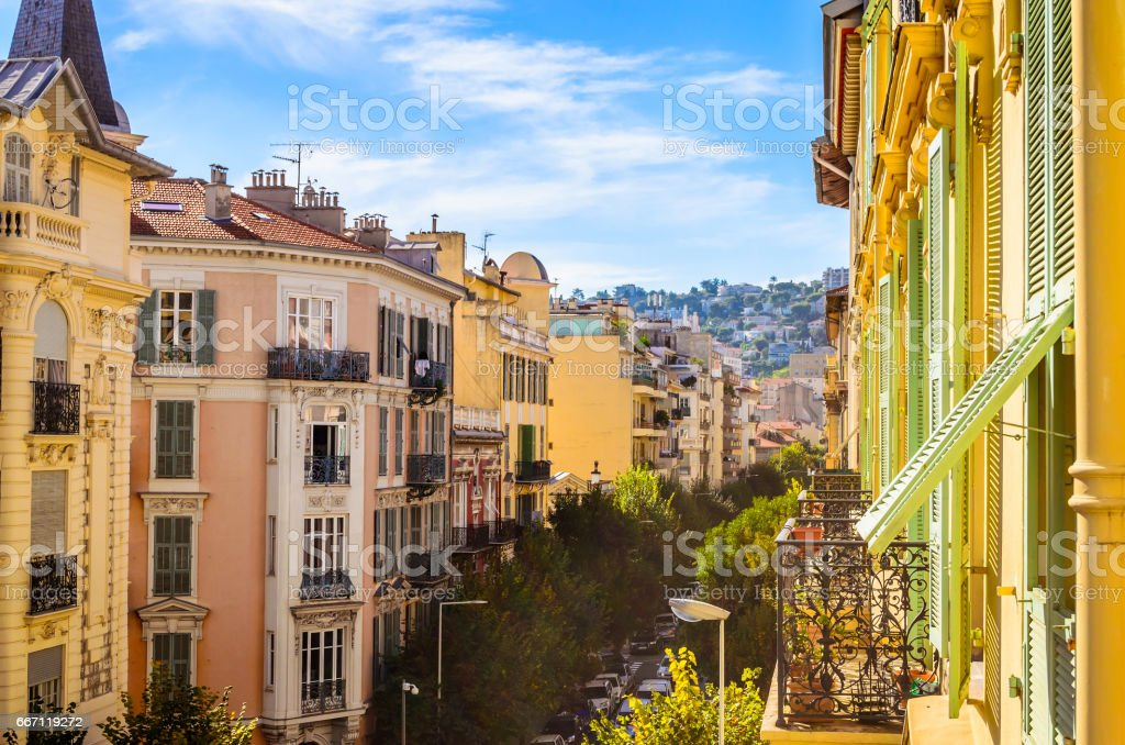 Steet in Nice, Cote d'Azur, French stock photo