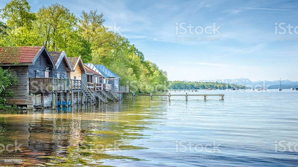 Stegen at Ammersee stock photo