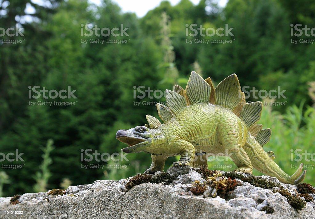 Stegosaurians stock photo
