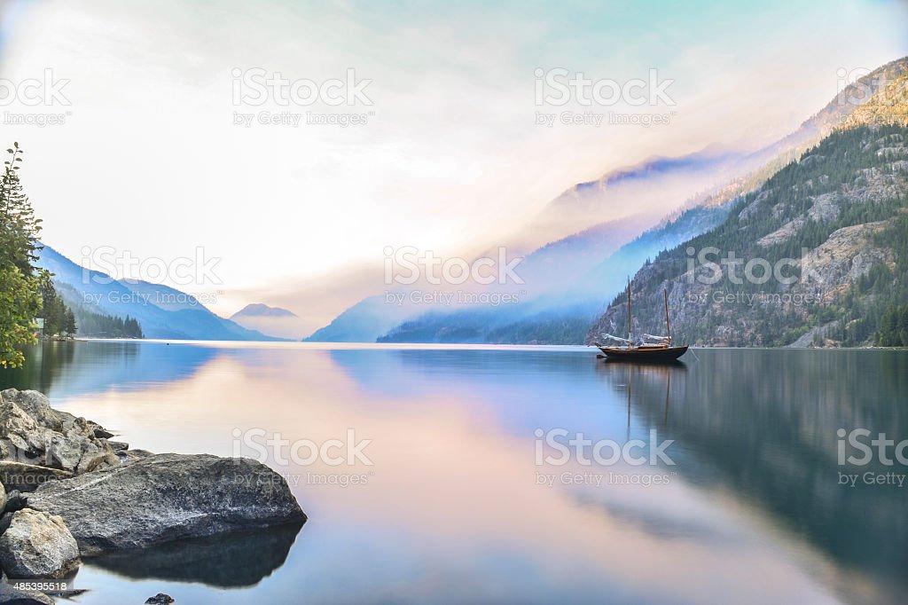 Stehekin at Lake Chelan stock photo