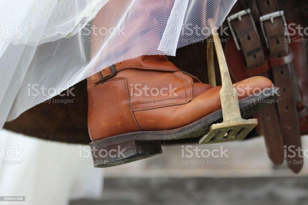 steigbügel stock photo