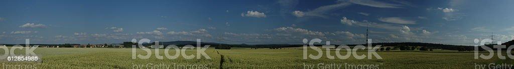 Steigerwald von Dürrfeld aus stock photo