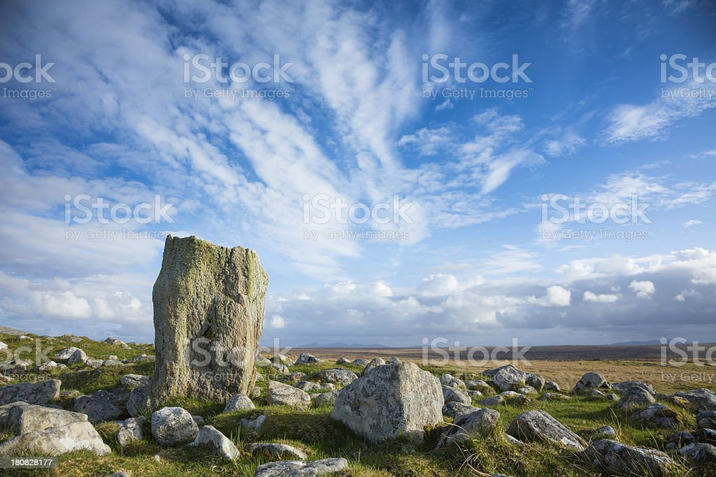 Steinacleit Standing Stones royalty-free stock photo
