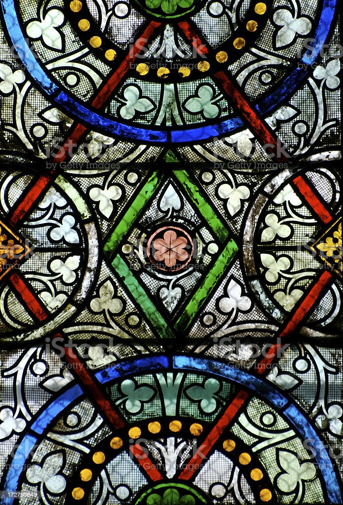 Steined glass royalty-free stock photo