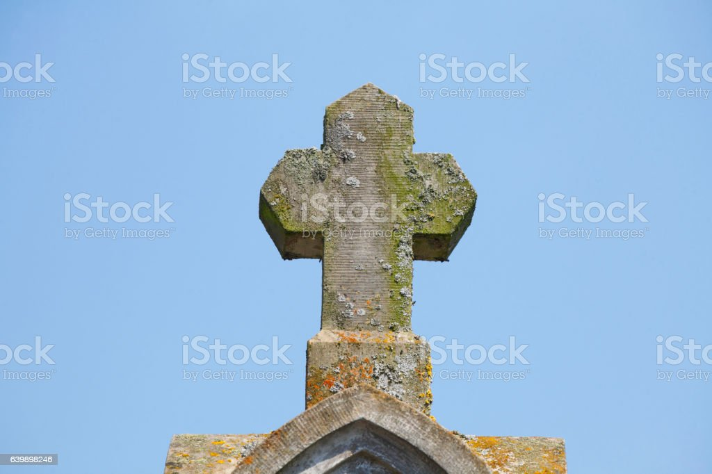 Steinernes Kreuz stock photo