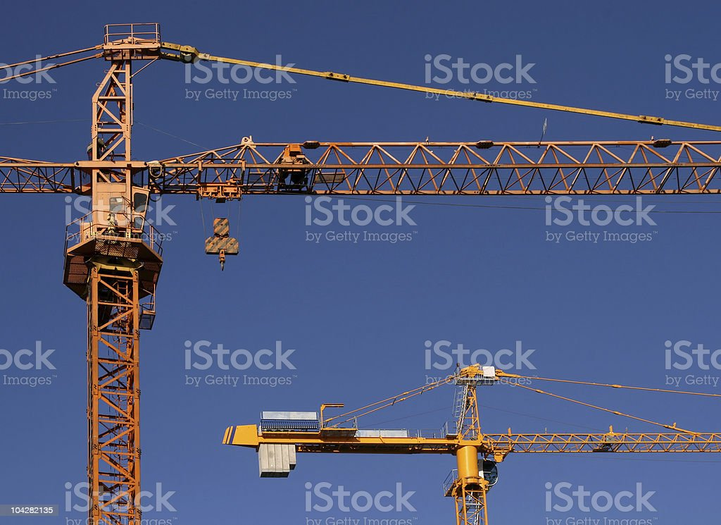 Stell cranes stock photo