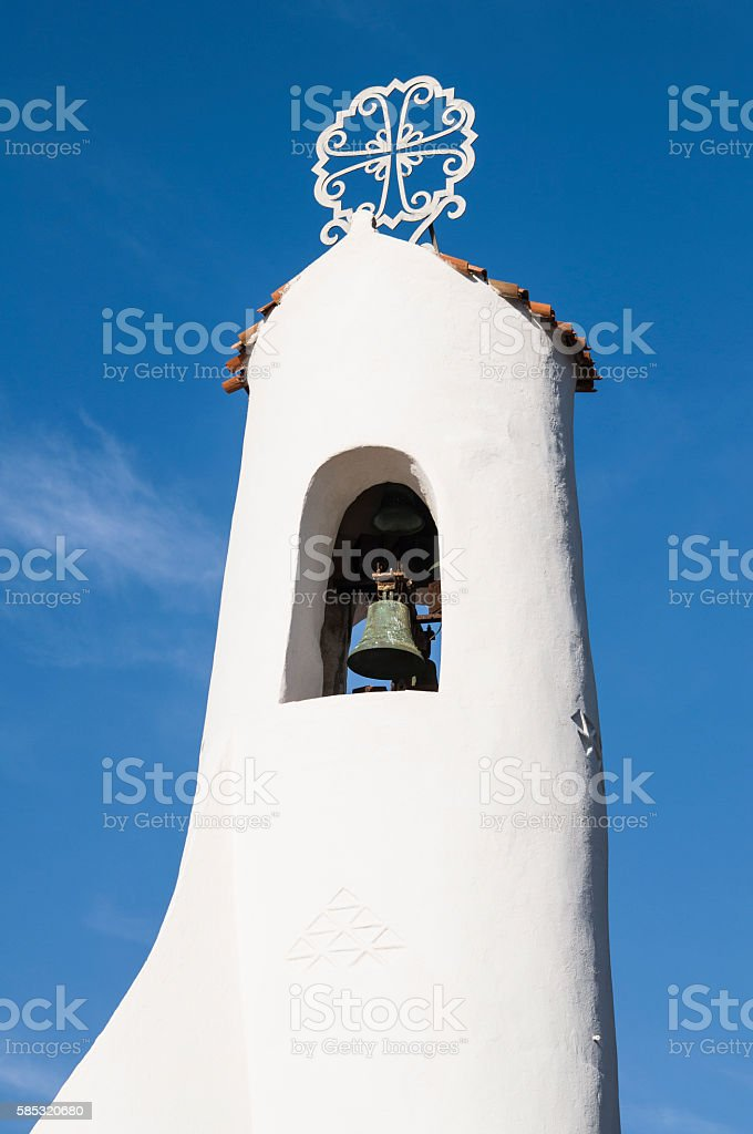 Stella maris is the church of Porto cervo, Sardinia stock photo