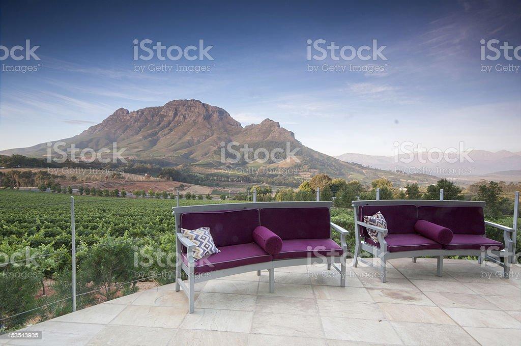 Stellenbosch, the heart of wine growing region in South Africa stock photo