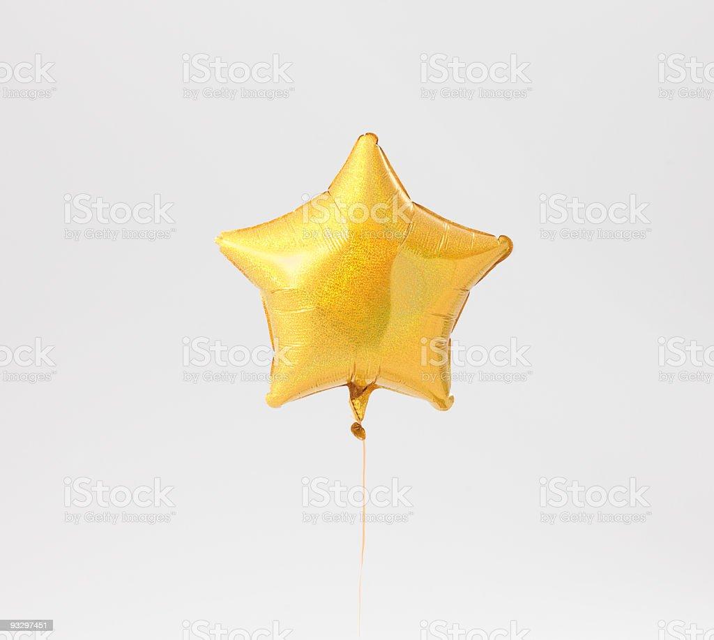Stelliform balloon on White Background stock photo