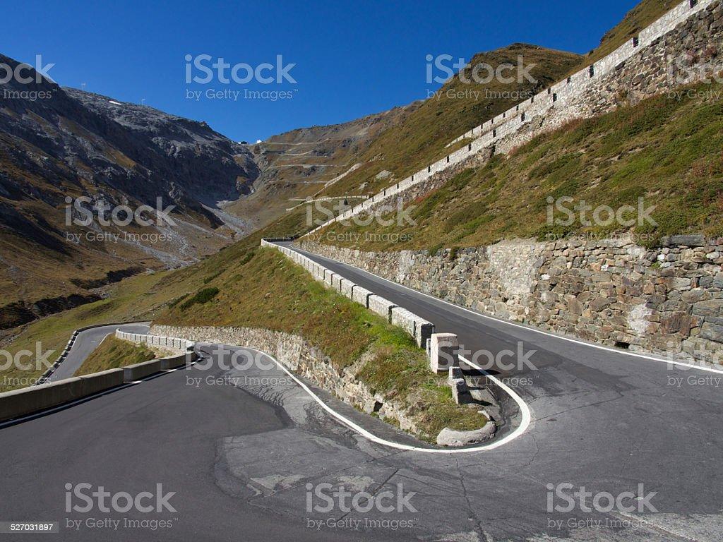 Stelvio Pass in Italy stock photo