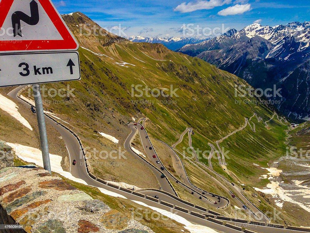 Stelvio Pass, Italian Alps stock photo